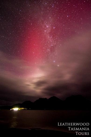 タスマニアでオーロラが見れました!